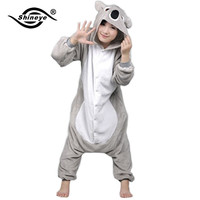 Shineye Koala Unisex Adults Casual Flannel Hooded Pajamas Cosplay Cartoon Cute Animal Onesuits Sleepwear  Leopard For Women Men