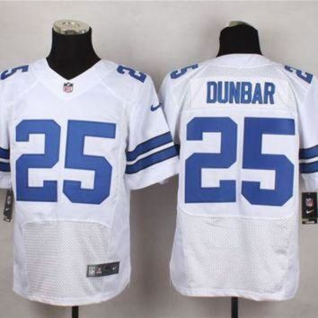 ONETOW Nike Dallas Cowboys #25 Lance Dunbar White Men's Stitched NFL Elite Jersey