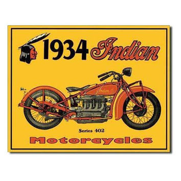 Tin Sign : 1934 Indian Motorcycles