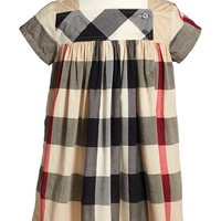 Toddler Girl's Burberry 'Paisley' Check Print Dress,