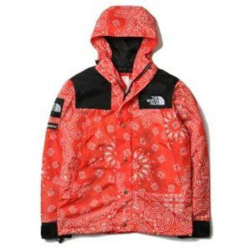 ONETOW NORTH FACE X SUPREME BANDANNA  COLOR JACKET