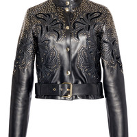 Embroidered Leather Jacket | Moda Operandi