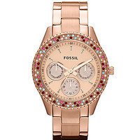 Fossil Stella Rose Gold Glitz Watch | Dillards.com