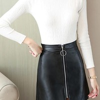 Chelsea Faux Leather Skirt