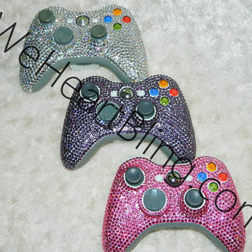Bling Rhinestone Gaming Controllers Xbox by WeHeartBlingXOXO