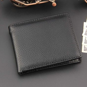 2017 NEW Designe Euro PU Leather Men Wallets Famous Men Wallet Male Black Coin Purse ID Card Dollar Bill Wallet
