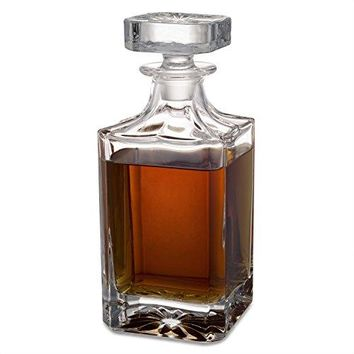 SEEROSE Whiskey Decanter 750ml Bourbon Wine Liquor Crystal Glass Decanter