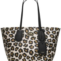 COACH TAXI TOTE IN OCELOT PRINT LEATHER