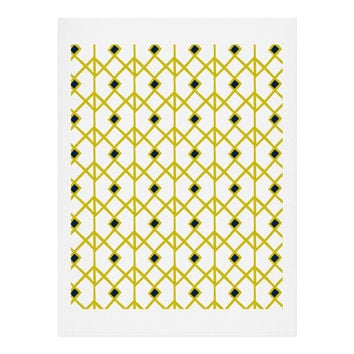 Heather Dutton Annika Diamond Citron Art Print