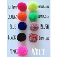 Deal of the day, Five dollar Friday Pom Pom Hair Clip, Pom Pom, Orchid Hair Accessories, Pompom hair clip, pompom, pompoms, girls pompom