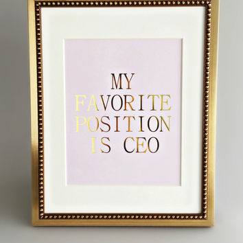 Favorite Position Canvas Print