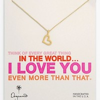 Dogeared 'Every Great Thing' Boxed Heart Pendant Necklace