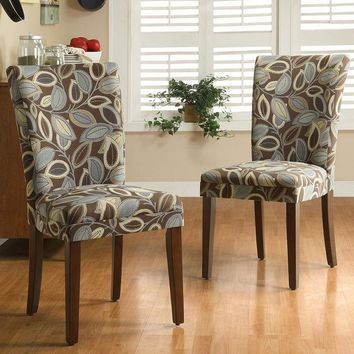 HomeVance 2-pc. Parsons Leaf Dining Chair Set (Natural)