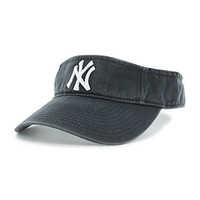 MLB New York Yankees Clean Up Adjustable Visor, Navy, One Size