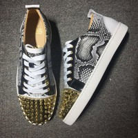 Cl Christian Louboutin Low Style #2002 Sneakers Fashion Shoes