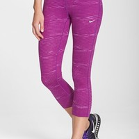 Women's Nike 'Epic Run' Print Dri-FIT Crop Leggings,