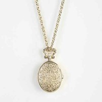 Locket Watch Necklace - Gold One