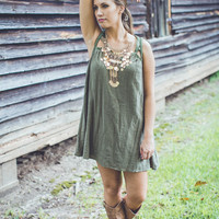 Sweet and Sassy Dress in Olive