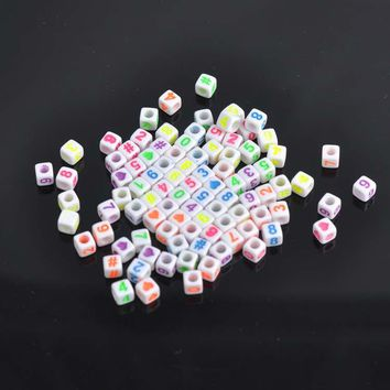 200pcs Colorful Number Beads