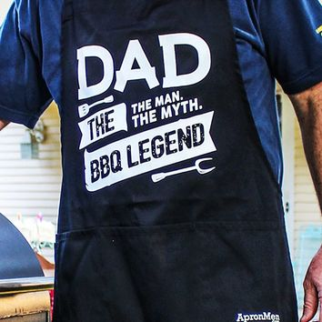 Dad: The Man, The Myth, The BBQ Legend Apron