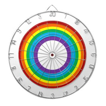 Rainbow Metal Cage Dartboard