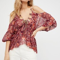 Free People FP One Monarch Printed Top
