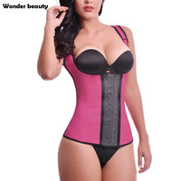 Wonder Beauty Latex Waist Trainer Vest For Women Steel Boned Workout Plus Size Fajas Fajas Reductoras Sexy Body Shaper