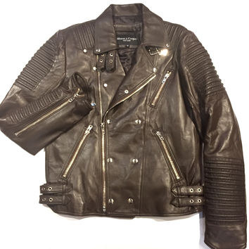 Mason & Copper Lamb Skin Motor Cycle Jacket