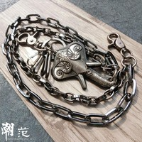 Fashion Pants Chains Punk Rock Waist Accessories Top Quality Men Punk Hip-hop Street Dance Elephant Jeans Pants Chain