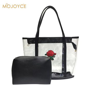 2017 Vintage Transparent Bags Women Handbag Large Jelly Bag Shoulder Bag Crossbody Bags Female Purse And Handbags Totes