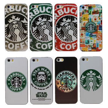 New Arrival Super Hot Star Wars Coffee Design Phone Hard Case Cover for Apple iPhone 4 4S 5 5S SE 5C 6 6S 7 Plus 6SPlus