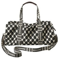Mossimo Supply Co. Geometric Print Weekender Handbag - Black/Ivory