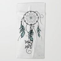 Poetic Key of Dreams Beach Towel by LouJah