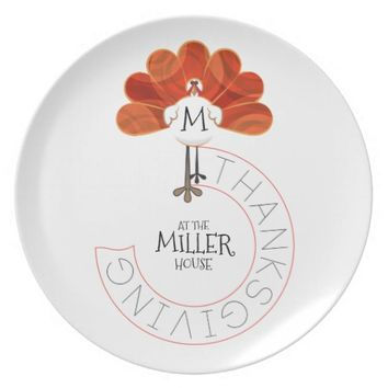 Thanksgiving Turkey Dinner Plate