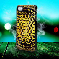 Bring Me The Horizon cover album gold design - for iPhone 4/4s, iPhone 5/5S/5C, Samsung S3 i9300, Samsung S4 i9500 Hard Case