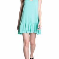Mint Drop Waist Dress