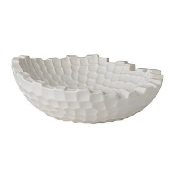 Random Grid Ceramic Bowl