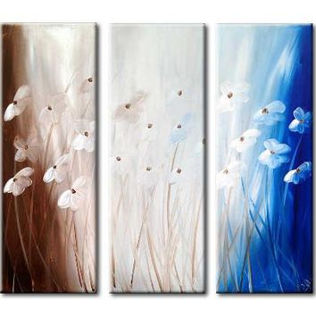 """'Floral V' - 36"""" X 30"""" Original Abstract  Art.Free-shipping within USA & 30 day return Policy."""