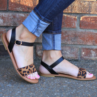 On the Boardwalk Leopard Sandals