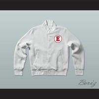 Troy Bolton 14 East High School Wildcats White Varsity Letterman Jacket-Style Sweatshirt
