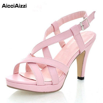 women NEW high heel high fashion lady sexy sandals heels shoes P372 Hot sell size 32-43
