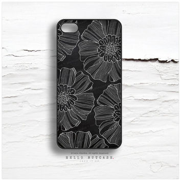 iPhone 5 Case Floral, iPhone 5s Case Chalkboard, iPhone 4 Case, iPhone 4s Case, Flower iPhone Case, Floral iPhone Cover I55