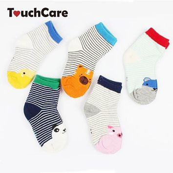 Cute Cartoon Animal Baby Boy Girl Socks Cotton Soft Casual Kids Sock Anti Slip Unisex Warm Floor Socks