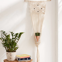 Macrame Hanging Wall Planter | Urban Outfitters