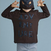 Billybandit Boys Long Sleeve Hooded Mask Tee - V25063 - PRE-ORDER
