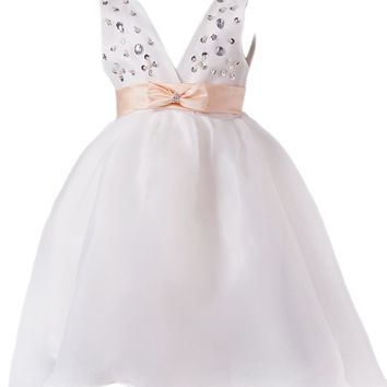 Dressystar Sparkling Flower Girl Dress Lovely kids Communion Party Dress With Bow tie