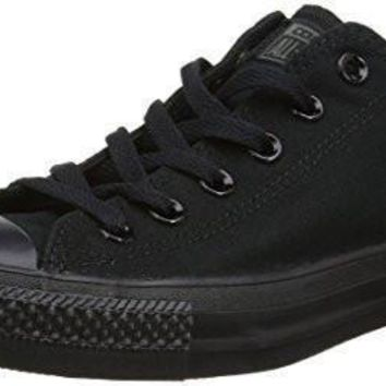 unisex converse chuck taylor all star low top sneakers 9 5 men 11 5 women black mono