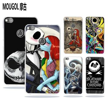 MOUGOL Jack The Nightmare Before Christmas Style transparent hard Phone case cover for Huawei Mate 10 8 P8 P9 P10 Lite 2017