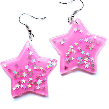 Kawaii Star Dangle Earrings