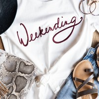 Weekending Tee Shirt, White